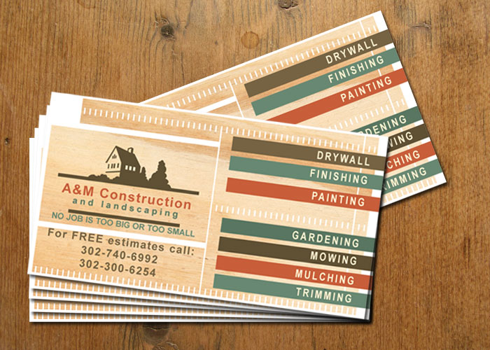 Business Cards For Construction Company