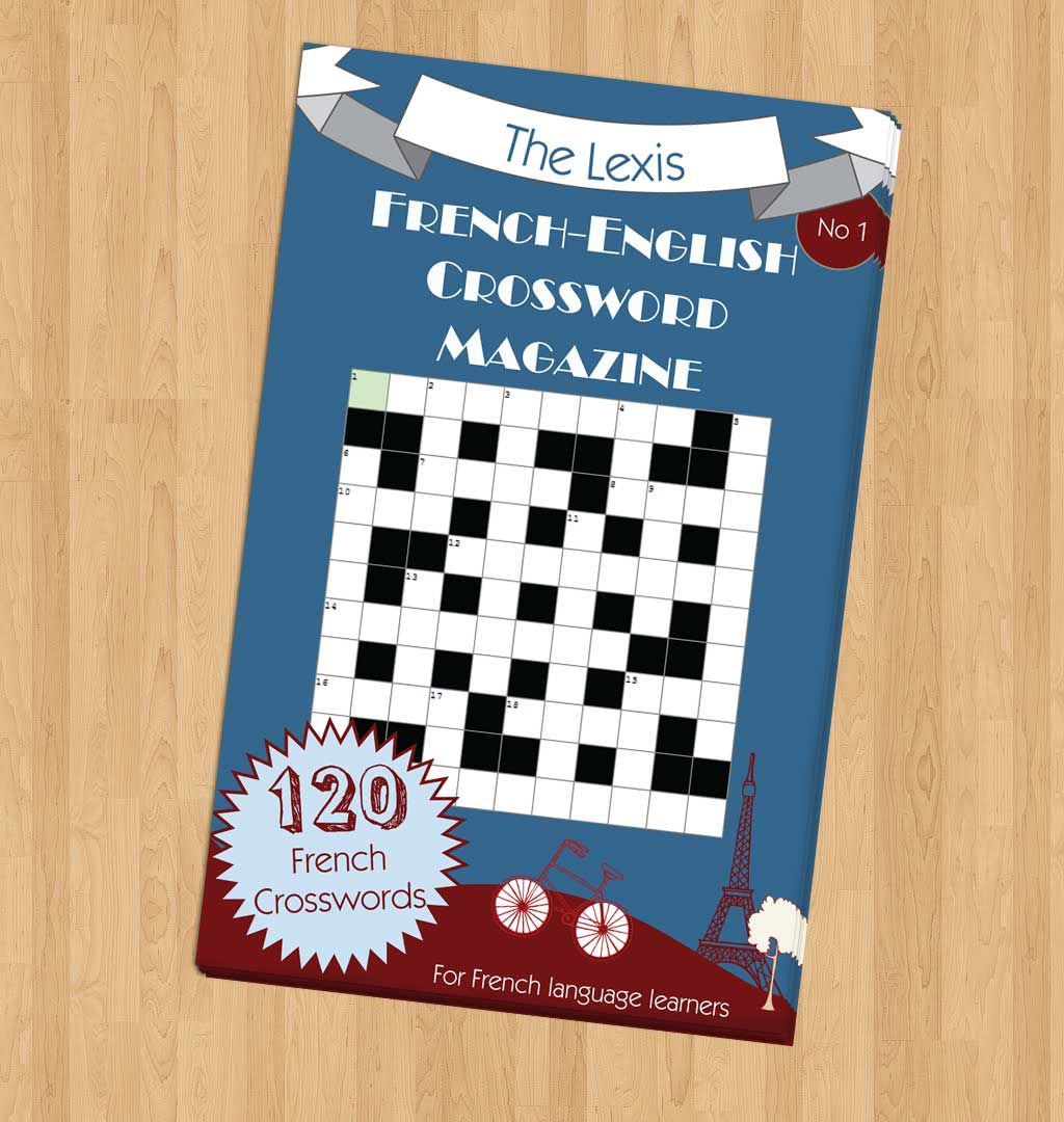 Book Front Cover Layout : Book cover design for a crossword magazine graphic