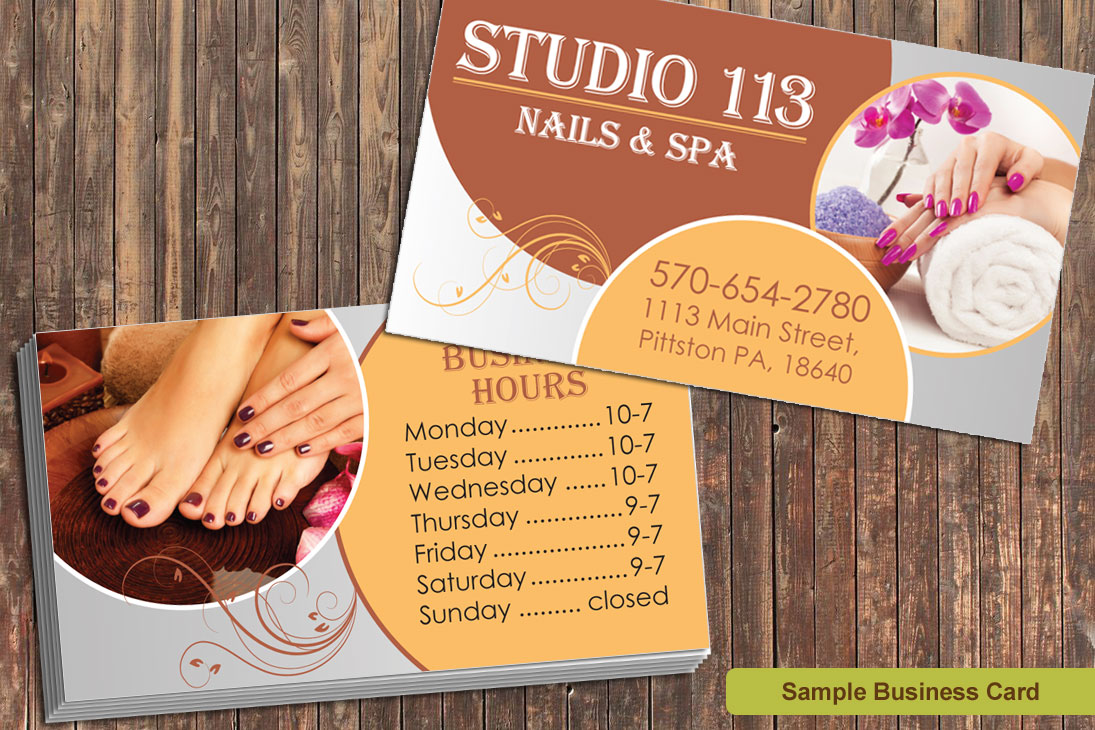 Price list design for nail salon in hockessin delaware graphic nail salon business card design magicingreecefo Image collections