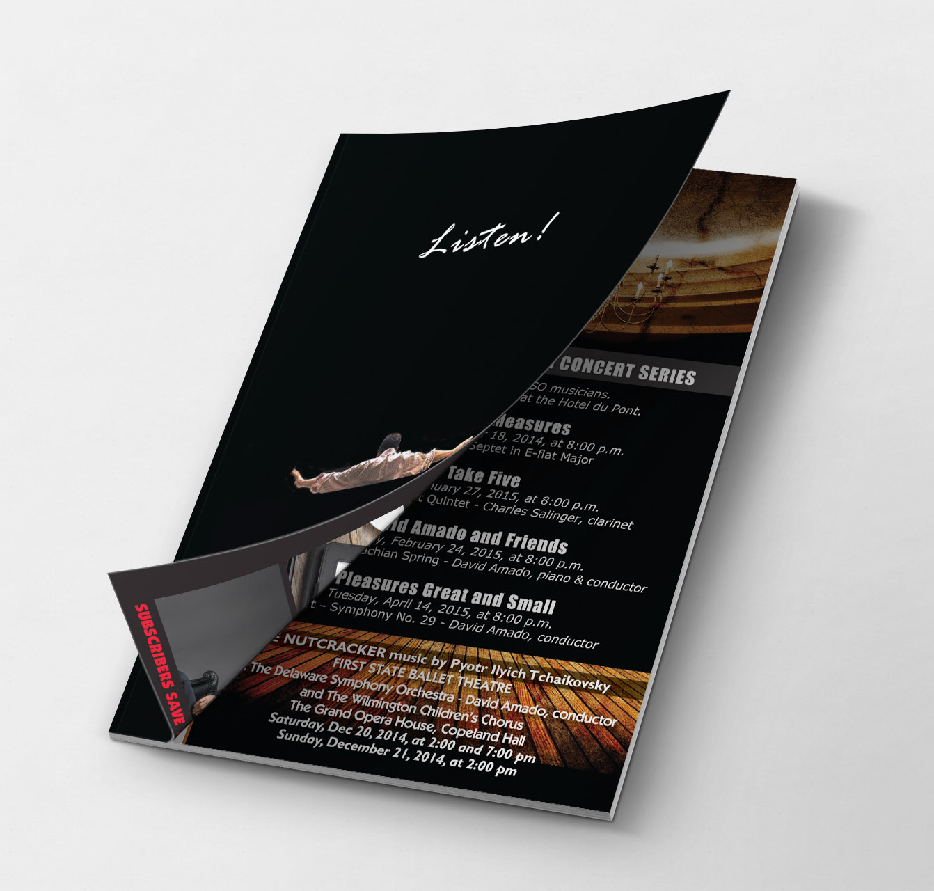 trifold brochure design - Delaware Symphony Orchestra