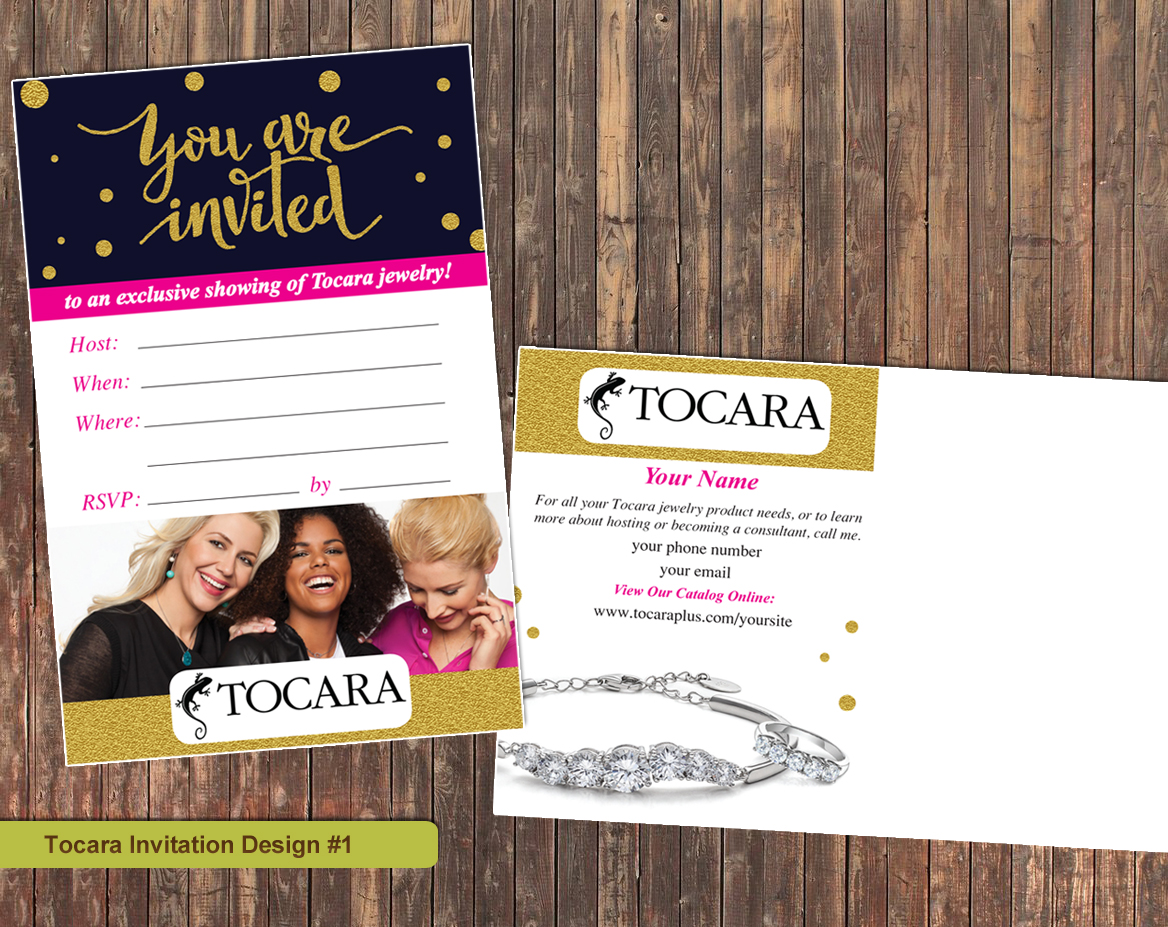 Marketing materials for tocara business owners graphic design print tocara invitations design1 stopboris Choice Image