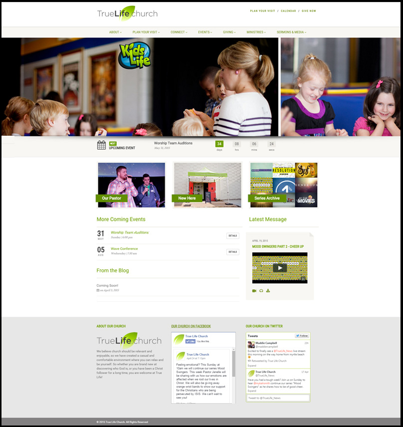 Home-Page-WordPress site for Church DE