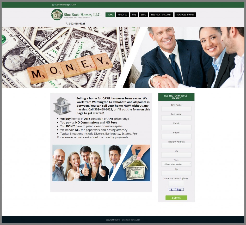 Word-press-website-design-for-real-estate-investor-delaware-home-page