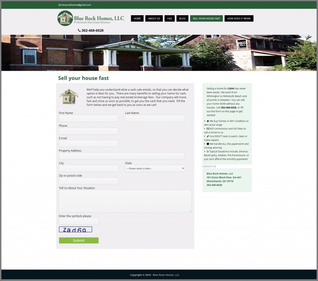 Word Press Website Design For Real Estate Investor