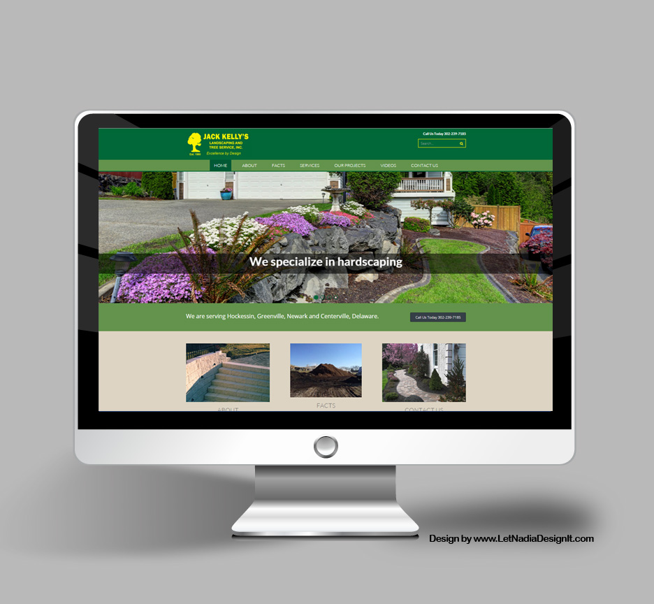 Website Design for Landscaping Company in Delaware