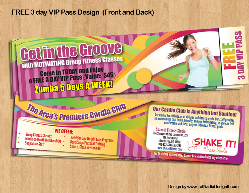 Fitness VIP Pass Design